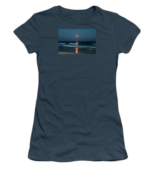 Blue Moon Women's T-Shirt (Junior Cut) by Cynthia Guinn