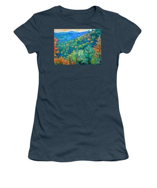 Blue Ridge Autumn Women's T-Shirt (Junior Cut) by Kendall Kessler