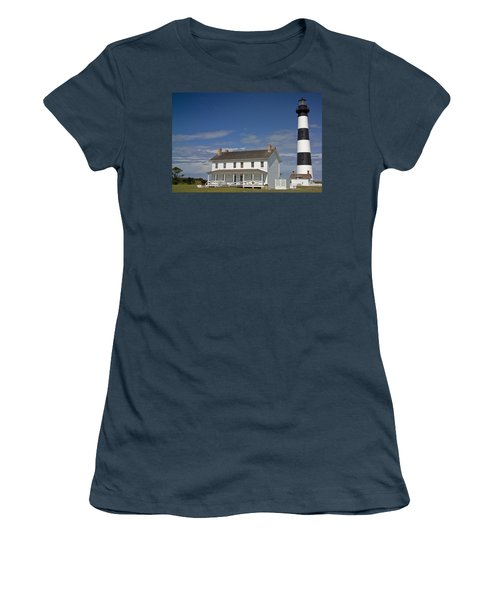 Women's T-Shirt (Junior Cut) featuring the photograph Bodie Lighthouse Obx by Greg Reed