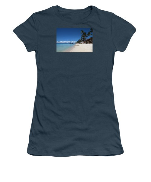 Women's T-Shirt (Junior Cut) featuring the photograph Boracay Beach by Joey Agbayani
