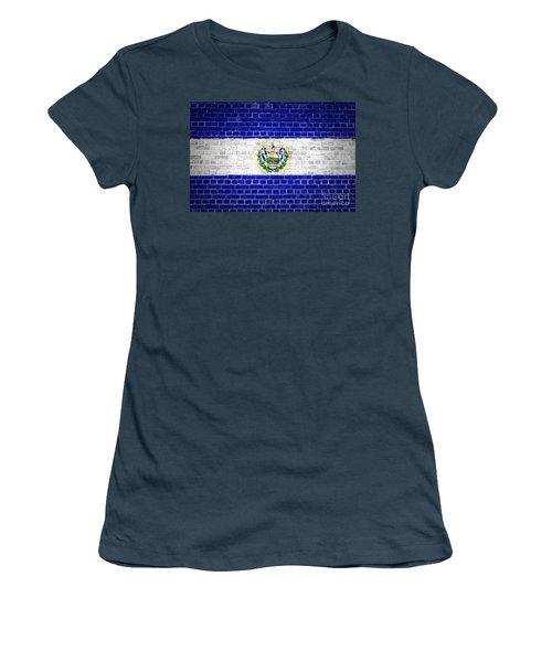 Brick Wall El Salvador Women's T-Shirt (Junior Cut) by Antony McAulay