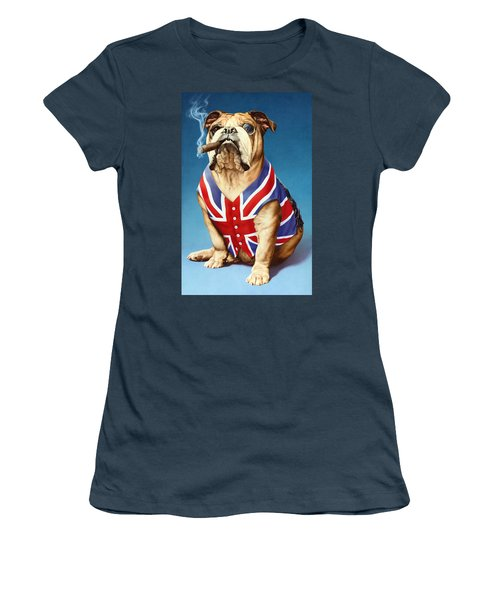 British Bulldog Women's T-Shirt (Junior Cut) by Andrew Farley