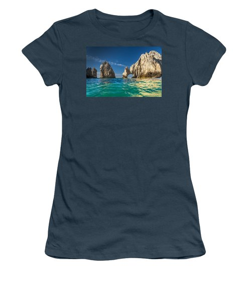 Cabo San Lucas Women's T-Shirt (Junior Cut) by Sebastian Musial