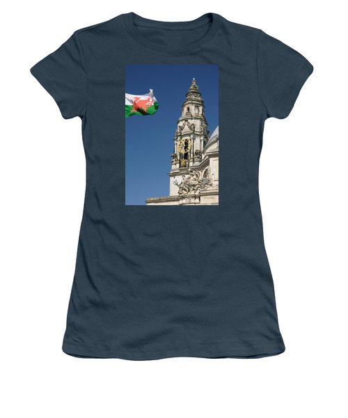 Cardiff City Hall Women's T-Shirt (Junior Cut) by Jeremy Voisey
