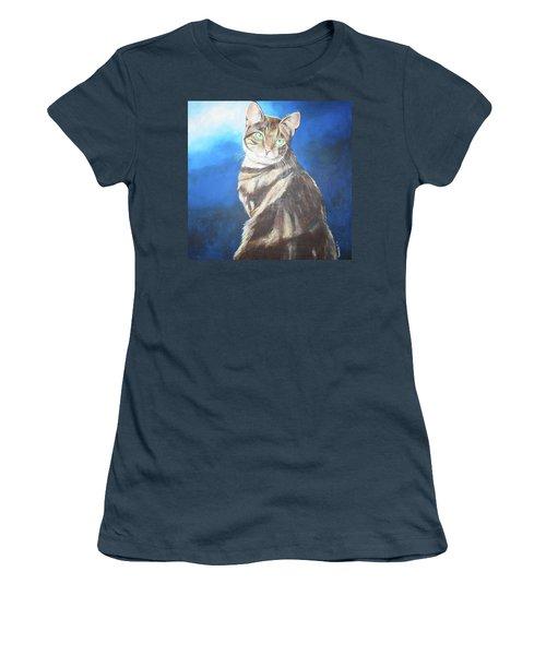 Cat Profile Women's T-Shirt (Junior Cut) by Thomas J Herring