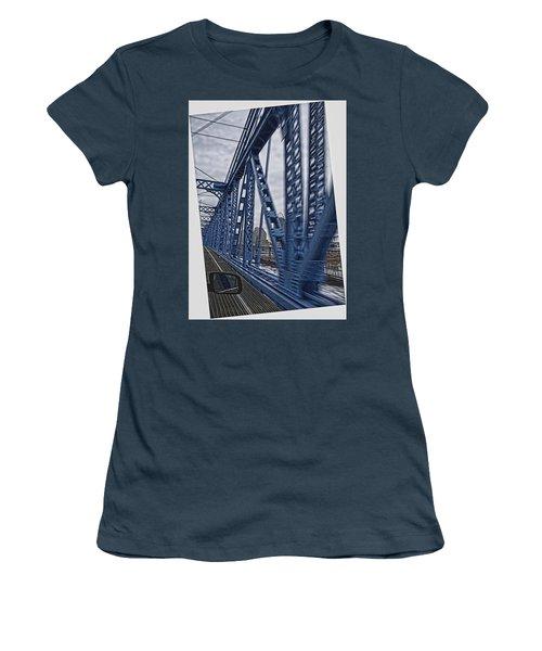 Cincinnati Bridge Women's T-Shirt (Junior Cut) by Daniel Sheldon