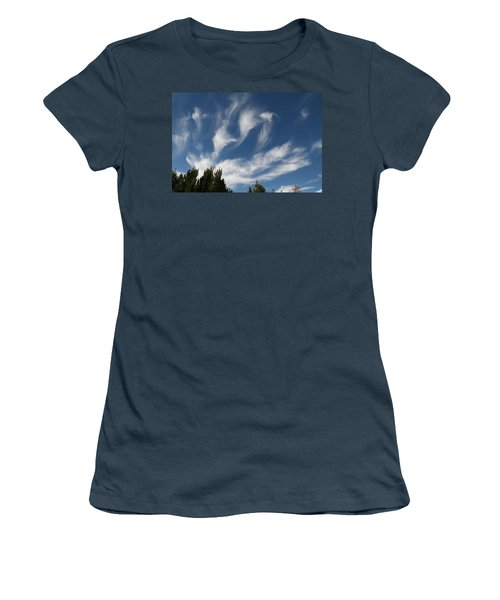 Women's T-Shirt (Junior Cut) featuring the photograph Clouds by David S Reynolds
