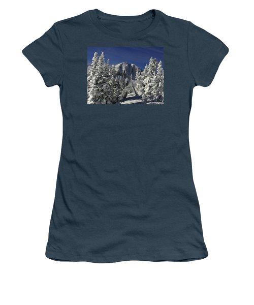 Cody Peak After A Snow Women's T-Shirt (Junior Cut) by Raymond Salani III