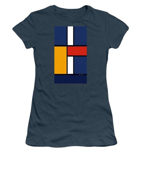 Color Squares - Mondrian Inspired Women's T-Shirt (Junior Cut) by Enzie Shahmiri