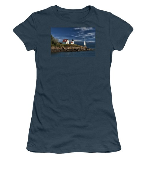 Curtis Island Lighthouse Maine Img 5988 Women's T-Shirt (Junior Cut) by Greg Kluempers