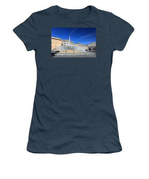 De Ferrari Square - Genova Women's T-Shirt (Junior Cut) by Antonio Scarpi