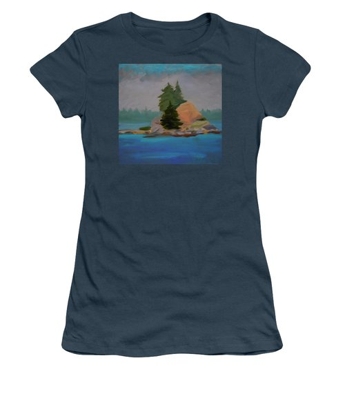 Women's T-Shirt (Junior Cut) featuring the painting Pork Of Junk by Francine Frank