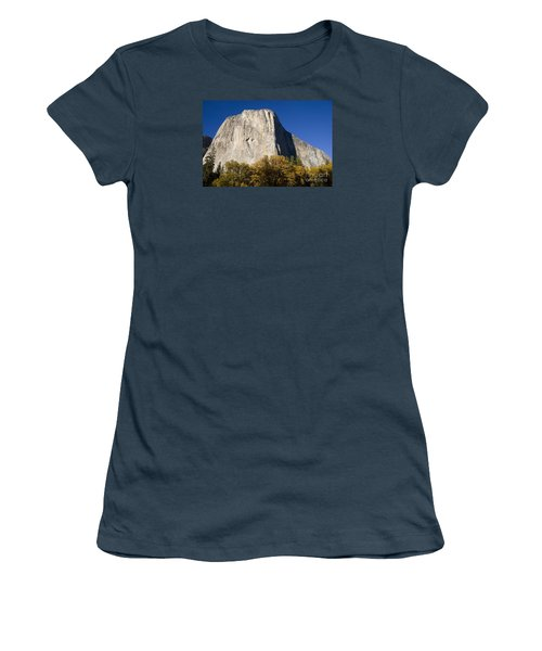 Women's T-Shirt (Junior Cut) featuring the photograph El Capitan In Yosemite National Park by David Millenheft