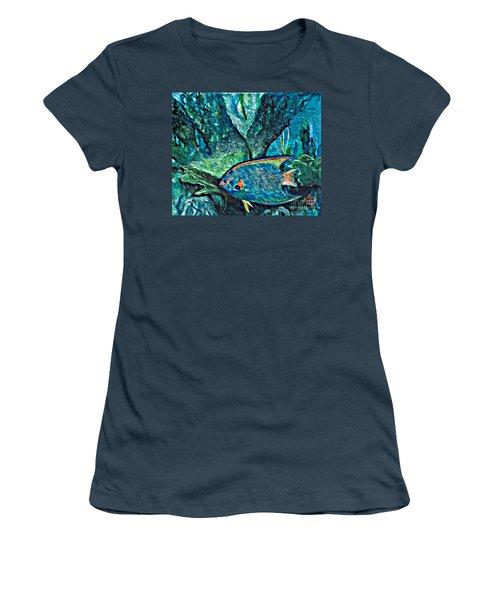 Fishscape Women's T-Shirt (Junior Cut) by Ecinja Art Works