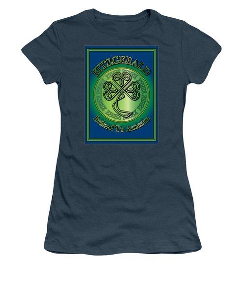 Fitzgerald Ireland To America Women's T-Shirt (Junior Cut) by Ireland Calling