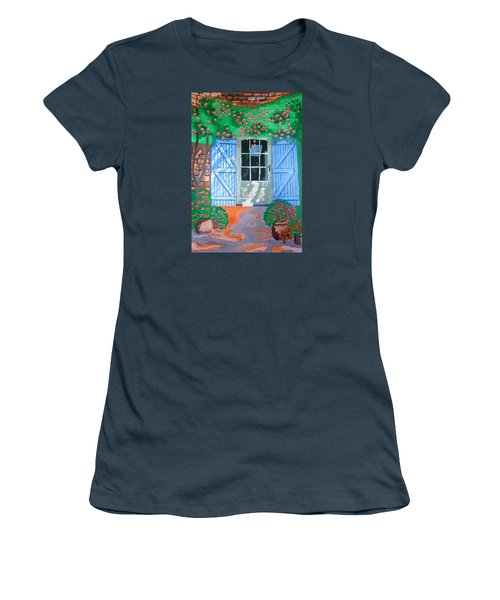 French Farm Yard Women's T-Shirt (Junior Cut) by Magdalena Frohnsdorff