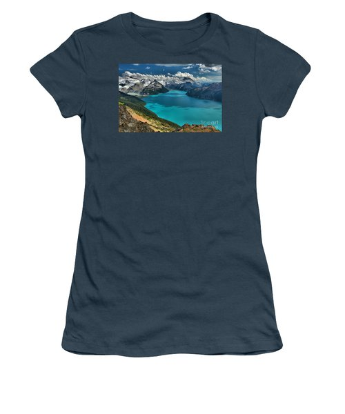 Garibaldi Lake Blues Greens And Mountains Women's T-Shirt (Junior Cut) by Adam Jewell