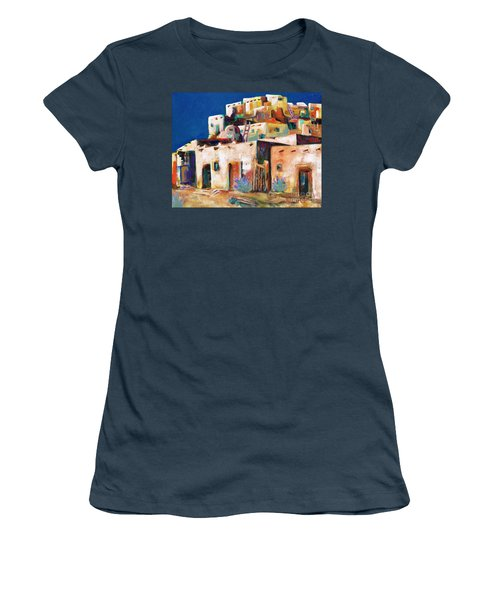 Gateway Into  The  Pueblo Women's T-Shirt (Junior Cut) by Frances Marino