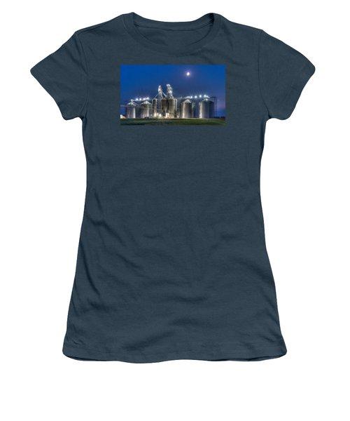 Grain Processing Plant Women's T-Shirt (Junior Cut) by Paul Freidlund