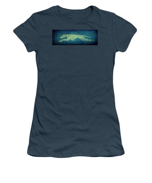 Greyhound Women's T-Shirt (Junior Cut) by Sandy Keeton