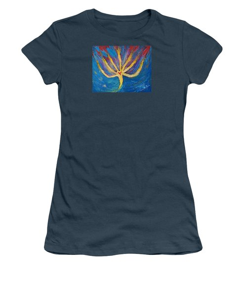 Women's T-Shirt (Junior Cut) featuring the painting Holy Spirit Which Dwells In You by Cassie Sears