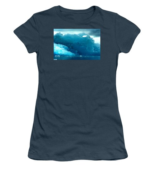 Women's T-Shirt (Junior Cut) featuring the photograph Icebergs by Amanda Stadther