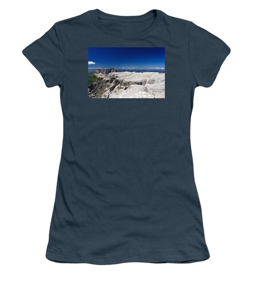 Italian Dolomites - Sella Group Women's T-Shirt (Junior Cut) by Antonio Scarpi