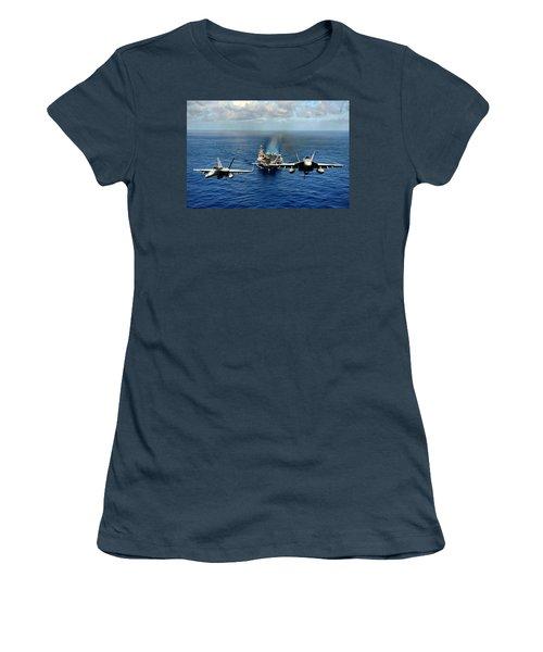 John C. Stennis Carrier Strike Group Women's T-Shirt (Junior Cut) by Mountain Dreams