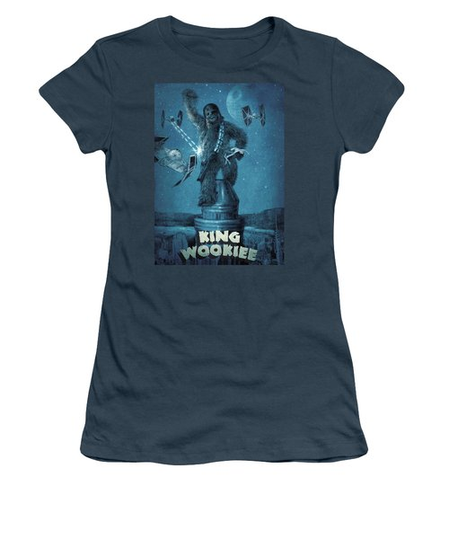 King Wookiee Women's T-Shirt (Junior Cut) by Eric Fan