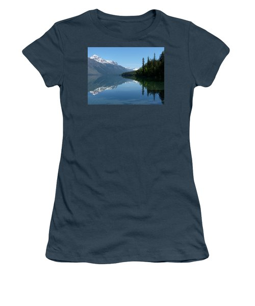 Lake Mcdonald - Glacier National Park Women's T-Shirt (Junior Cut) by Lucinda Walter