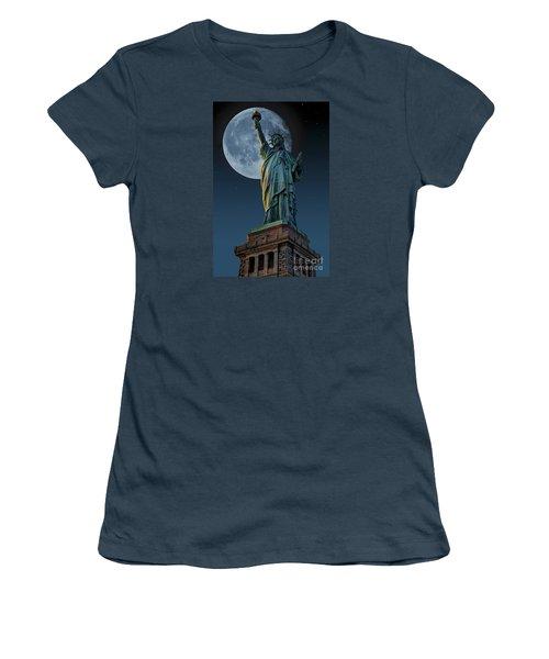 Liberty Moon Women's T-Shirt (Junior Cut) by Steve Purnell