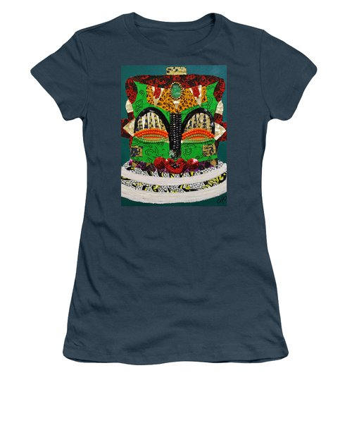Women's T-Shirt (Junior Cut) featuring the tapestry - textile Lotus Warrior by Apanaki Temitayo M
