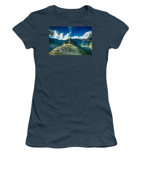 Machu Picchu Women's T-Shirt (Junior Cut) by Ulrich Schade