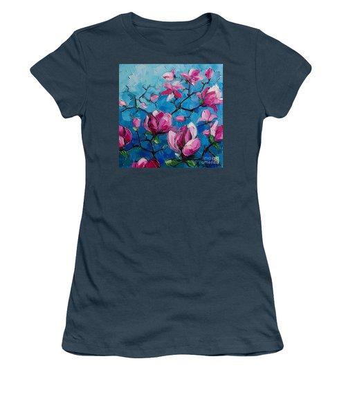 Magnolias For Ever Women's T-Shirt (Junior Cut)