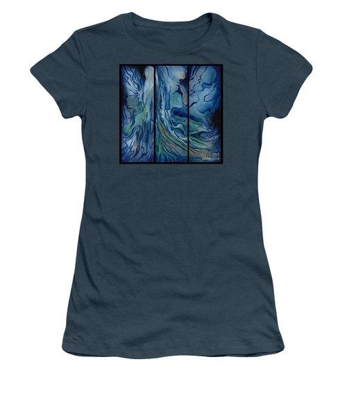 Marina Triptych Women's T-Shirt (Junior Cut)