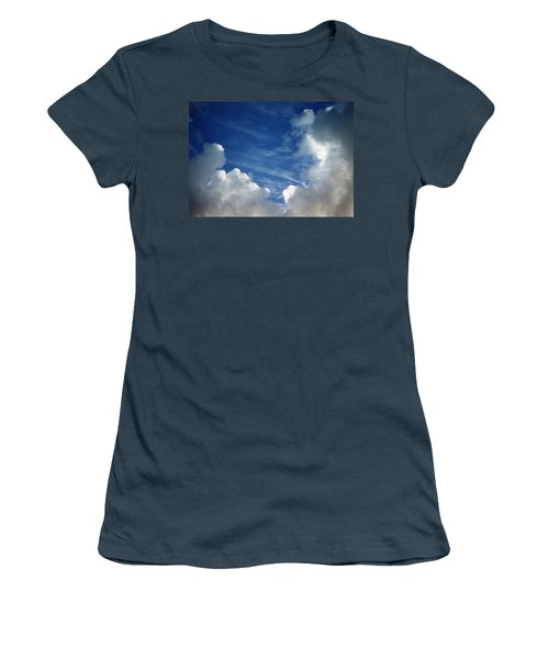 Women's T-Shirt (Junior Cut) featuring the photograph Maui Clouds by Evelyn Tambour