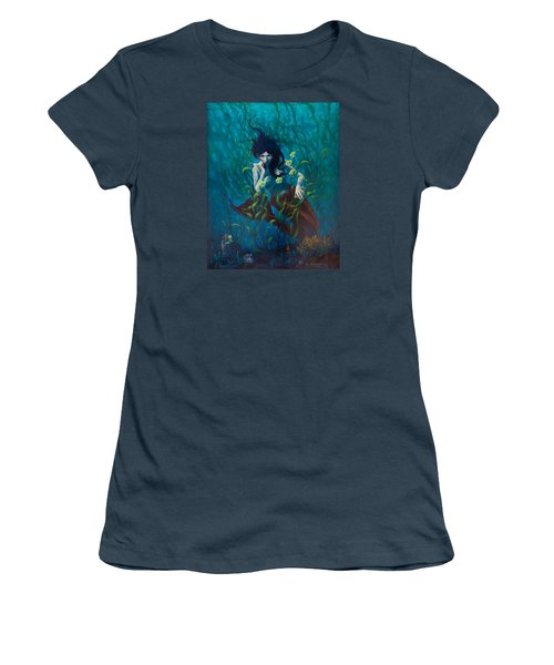 Women's T-Shirt (Junior Cut) featuring the painting Mermaid by Rob Corsetti
