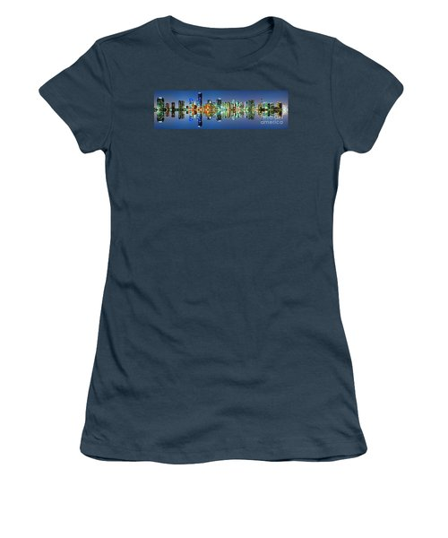 Miami Skyline Panorama Women's T-Shirt (Junior Cut) by Carsten Reisinger