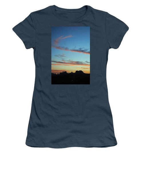 Women's T-Shirt (Junior Cut) featuring the photograph Monument Valley Sunset 3 by Jeff Brunton