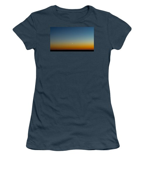 Moon And Venus I Women's T-Shirt (Junior Cut) by Marco Oliveira