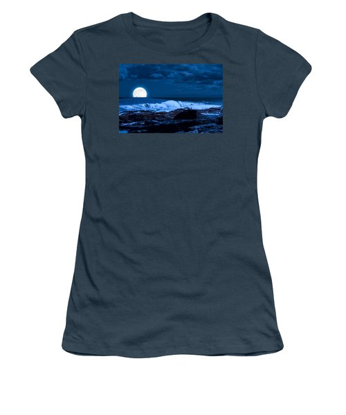 Moonlight Sail Women's T-Shirt (Junior Cut) by Fred Larson