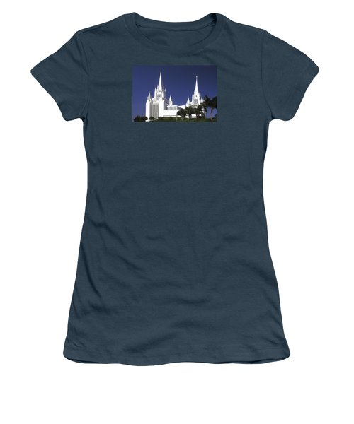 Mormon Temple Women's T-Shirt (Junior Cut) by Paul W Faust -  Impressions of Light