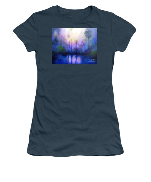 Women's T-Shirt (Junior Cut) featuring the painting Morning Symphony by Alison Caltrider