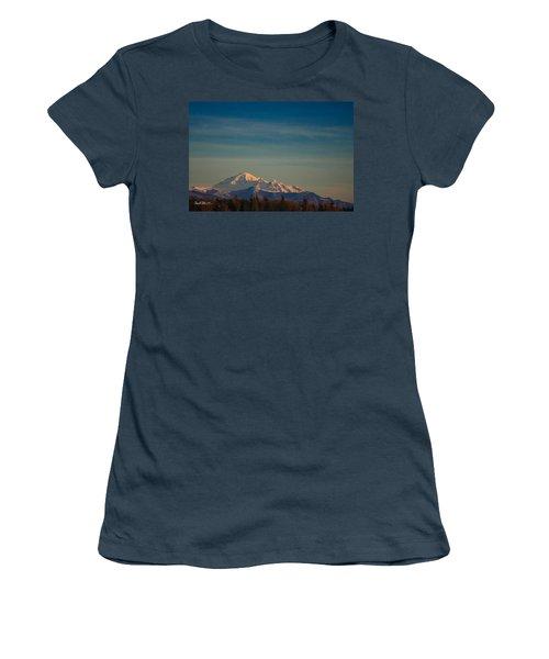 Mount Baker Sunset Women's T-Shirt (Junior Cut) by Charlie Duncan