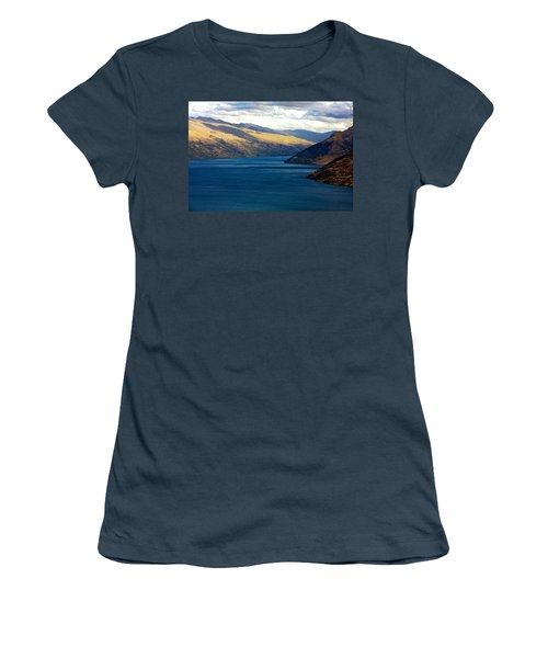 Mountains Meet Lake #2 Women's T-Shirt (Junior Cut) by Stuart Litoff