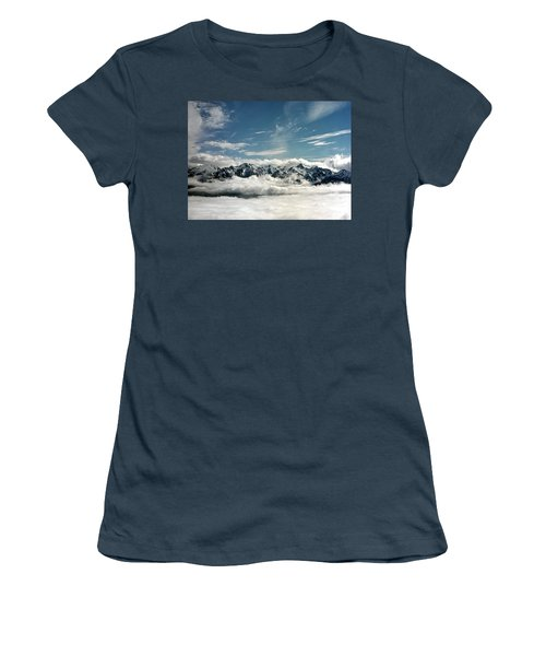 Women's T-Shirt (Junior Cut) featuring the photograph Mt Olympus by Greg Reed