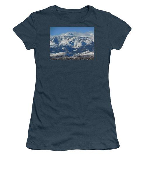 Mt Rose Reno Nevada Women's T-Shirt (Junior Cut) by Dan Whittemore