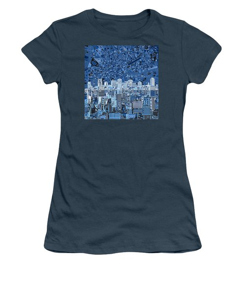 Nashville Skyline Abstract Women's T-Shirt (Junior Cut) by Bekim Art