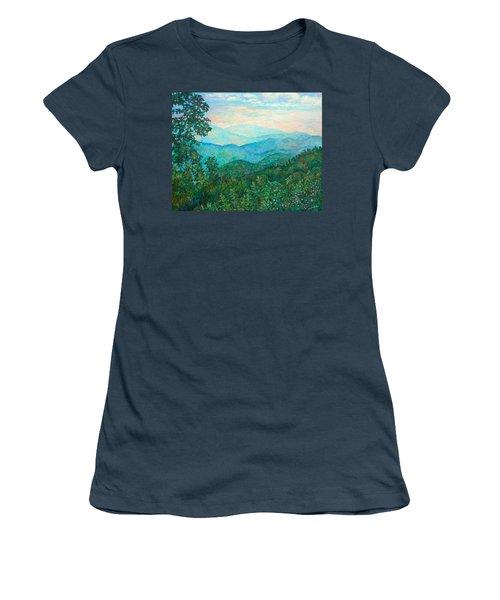 Near Purgatory Women's T-Shirt (Junior Cut) by Kendall Kessler