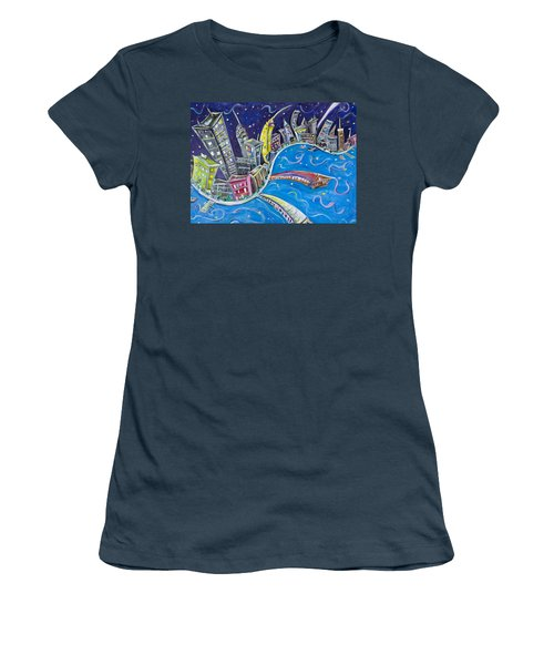 New York City Nights Women's T-Shirt (Athletic Fit)